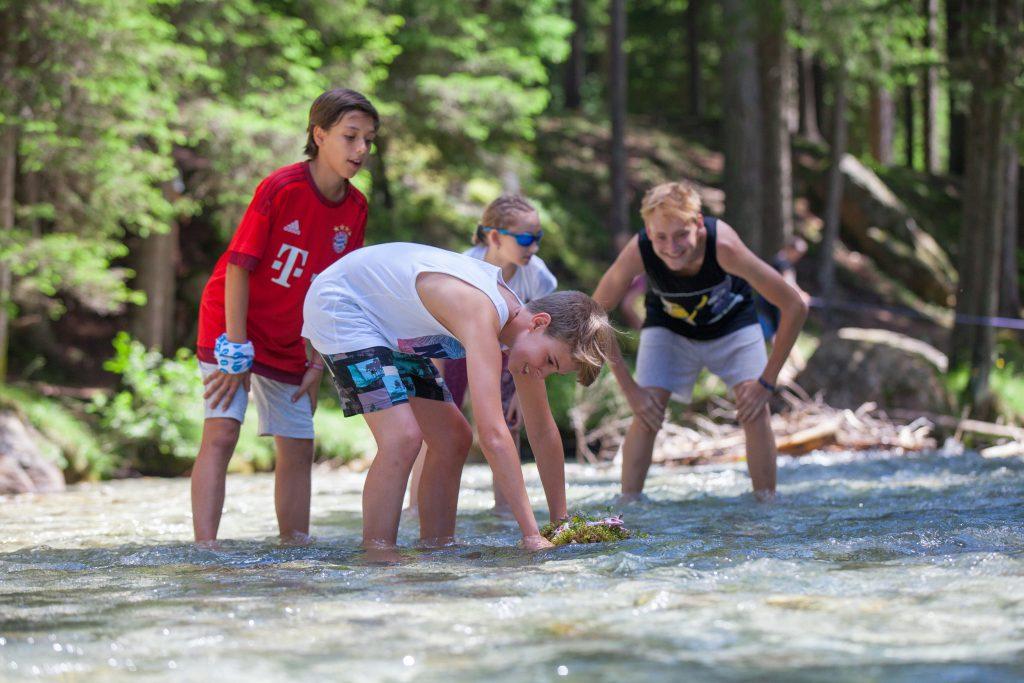 Naturerfahrung, SchülerInnen im Fluss