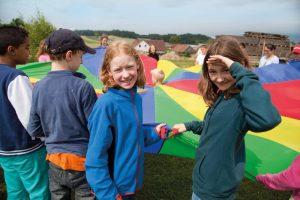aktivwoche fallschirmspiele Kinder schueler projektwoche projekttage Klassenfahrt schullandwoche