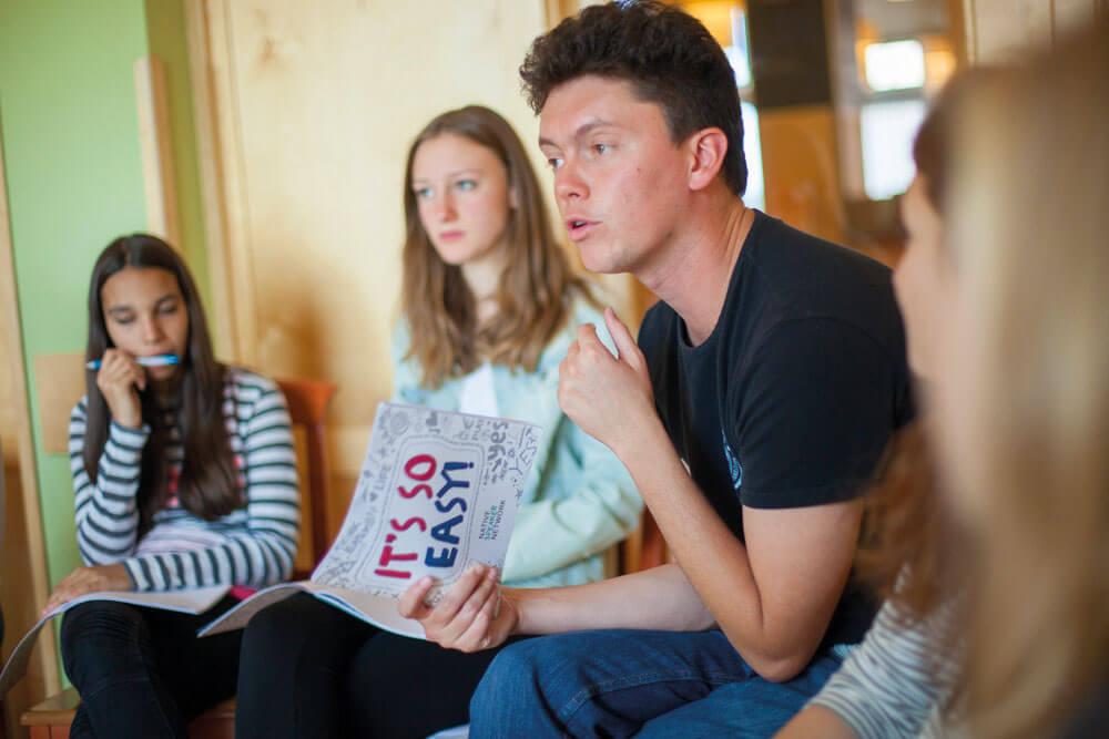 sprache lernen vier schueler projektwoche projekttage klassenfahrt sprachreise nsn gernotmuhr