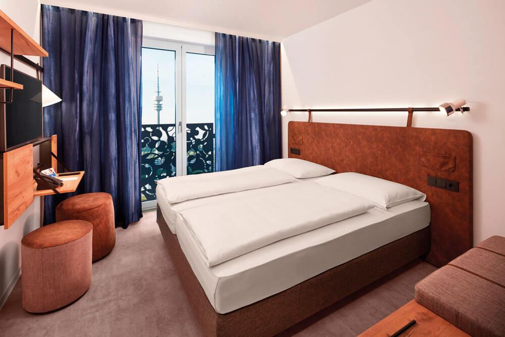 mho muenchen meininger hotel olympiapark doppelzimmer projektwoche klassenfahrt staedtreise hostel