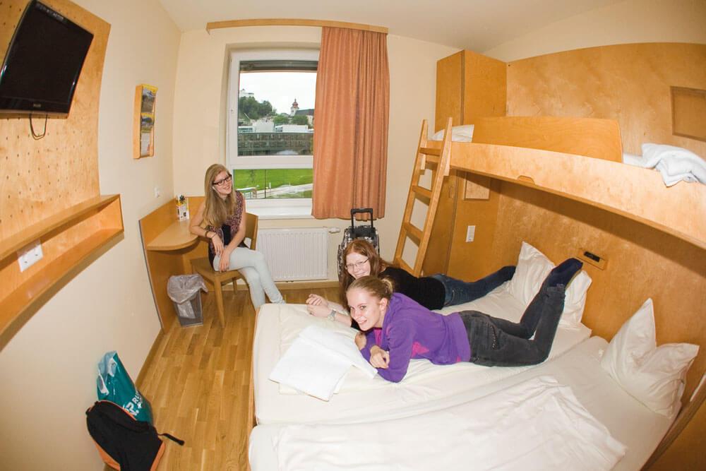 non salzburg nonntal stadt zimmer projektwoche klassenfahrt staedtreise hostel