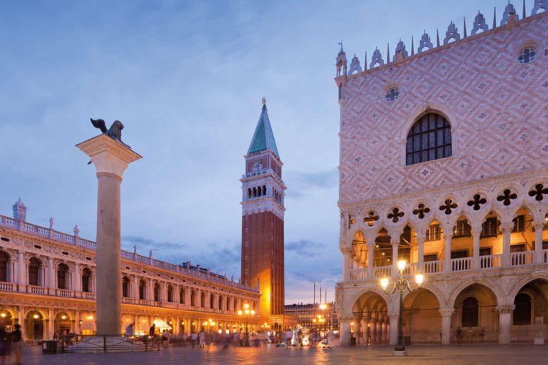 venedig palazzo ducale dogenpalast abend staedtereise projektwoche klassenfahrt